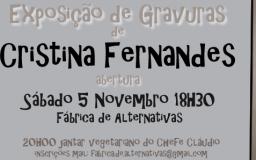 NOV2016 - Gravuras de Cristina Fernandes
