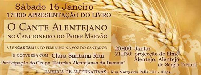 16JAN2016 - Apresentação Livro CANTE ALENTEJANO