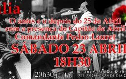 23ABR2016 - Tertúlia 25 Abril com o Comt. Pedro Lauret
