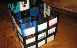 Cachepô de disquetes