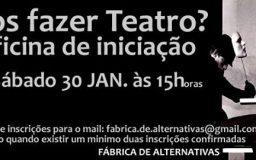 30JAN2016 - Vamos fazer Teatro? Oficina de iniciação