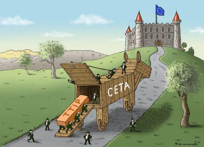 Carta ao Presidente da República, solicitando o veto do CETA.