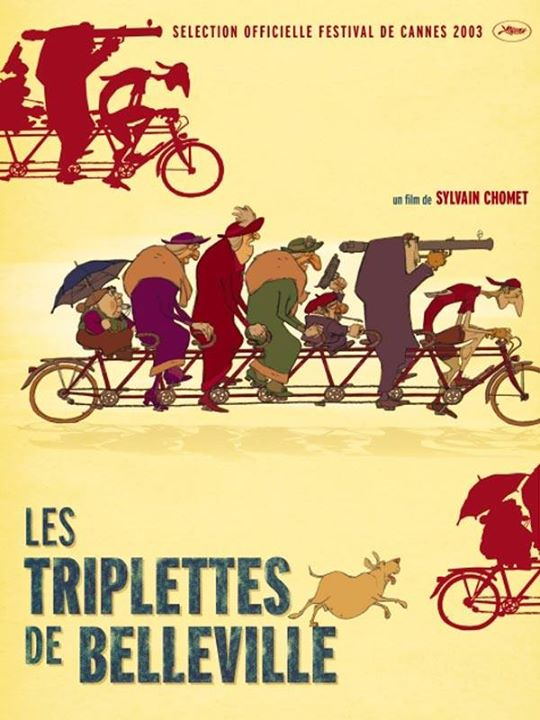 Ciclo de Cinema de Animação - As bicicletas de Belleville