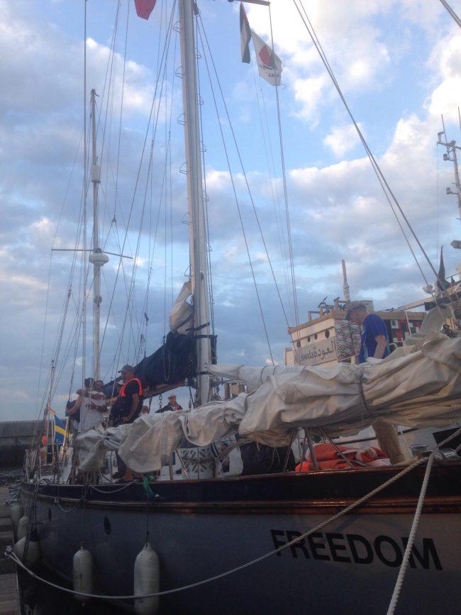 Flotilha da Liberbade a caminho de Gaza