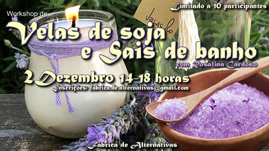 Workshop de velas de soja e sais de banho